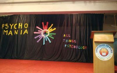 THE DEPARTMENT OF PSYCHOLOGY, ORGANIZED A PSYCHOLOGY FAIR