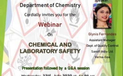 A NATIONAL LEVEL WEBINAR ON 'CHEMICAL AND LABORATRY SAFETY'